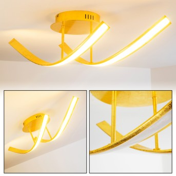 Aranu Ceiling Light LED gold, 2-light sources