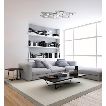 Grossmann KARREE Ceiling light LED aluminium, titanium , 7-light sources