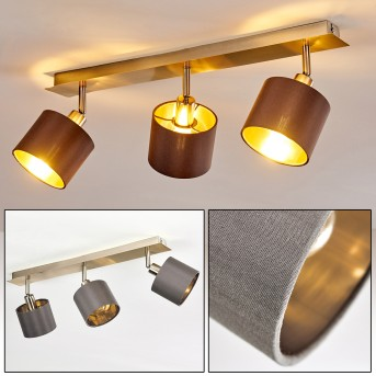 TIBRO Ceiling Light matt nickel, brass, 3-light sources