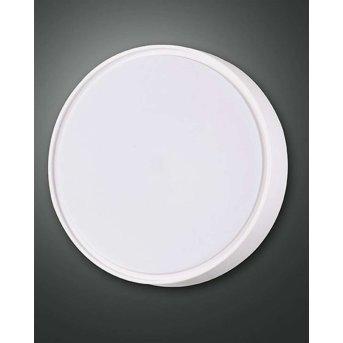 Fabas Luce HATTON outdoor ceiling light LED white, Motion sensor