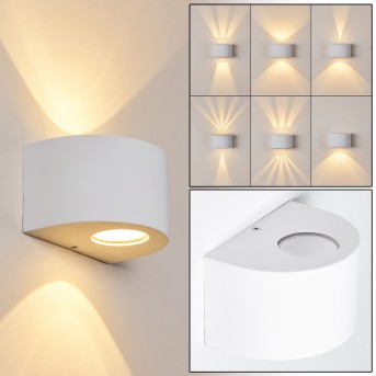 WINDHOEK Outdoor Wall Light LED white, 2-light sources