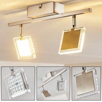 PINEY Ceiling light LED matt nickel, 2-light sources