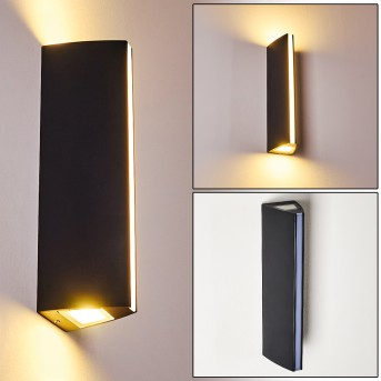 Outdoor Wall Light Rotterdamm LED black, 1-light source