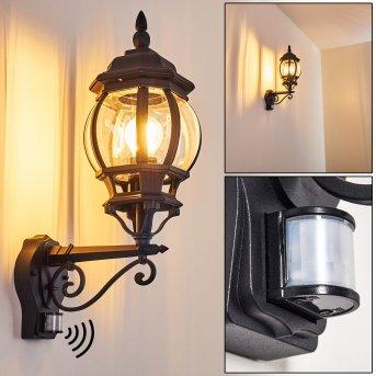 Lentua Outdoor Wall Light black, 1-light source, Motion sensor