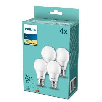 Philips LED Pack of 4 x E27 9 Watt 2700 Kelvin 806 Lumen