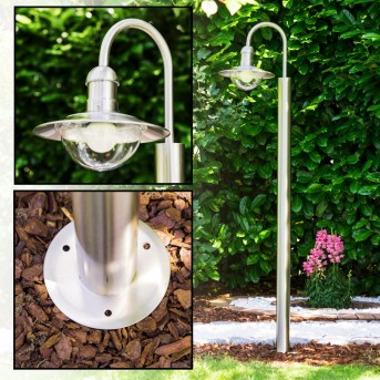 Elima outdoor floor lamp stainless steel, 1-light source