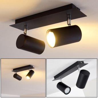 Ceiling Light Zuoz black, 2-light sources
