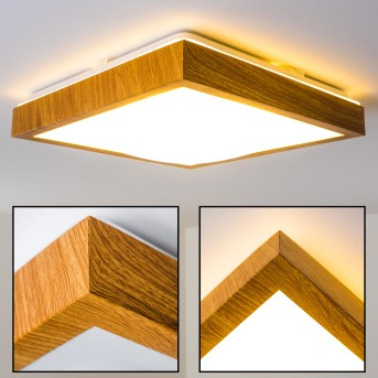 SORA WOOD Ceiling light LED light wood, 1-light source
