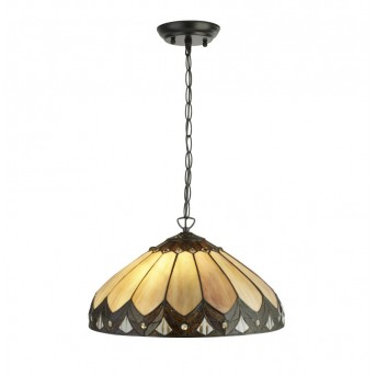 Pendant Light Searchlight PEARL black, brown, transparent, clear, 2-light sources