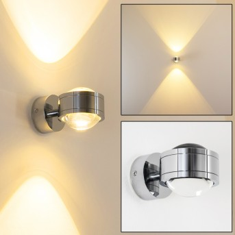 INDORE Wall Light LED chrome, 2-light sources