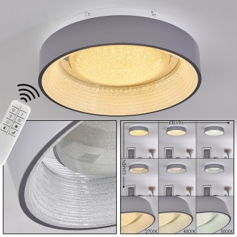 LAUSANNE Ceiling Light LED white, 1-light source, Remote control