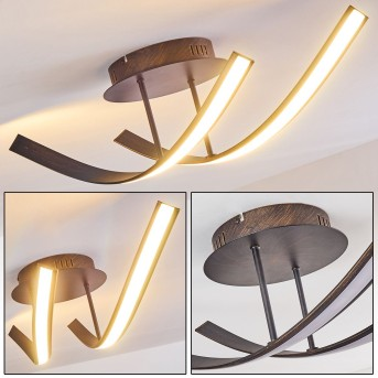 Aranu Ceiling Light LED rust-coloured, 2-light sources