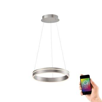 Paul Neuhaus Q-VITO Pendant Light LED stainless steel, 1-light source, Remote control