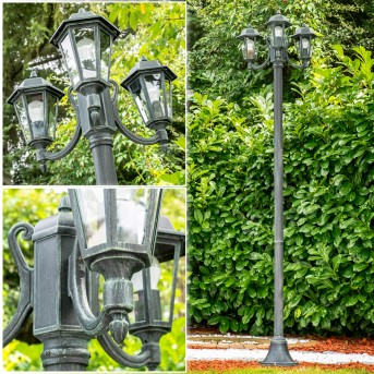 NATAL Lamp Post black, green , 3-light sources