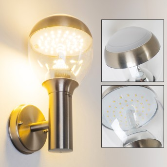 CORDOVA Outdoor Wall Light LED stainless steel, 1-light source