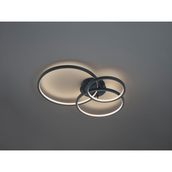 Trio AARON Ceiling Light LED anthracite, 1-light source, Remote control, Colour changer