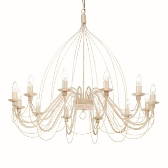 Ideal Lux CORTE Chandelier white, 12-light sources