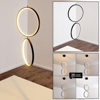RODEKRO Pendant Light LED chrome, black, 1-light source