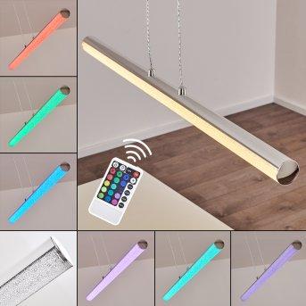 Flaut Pendant Light LED chrome, 1-light source, Remote control, Colour changer