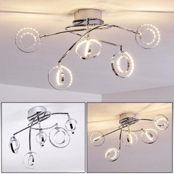 Ogoki Ceiling Light LED chrome, 5-light sources