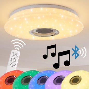 HEMLO Ceiling Light LED white, 1-light source, Remote control, Colour changer