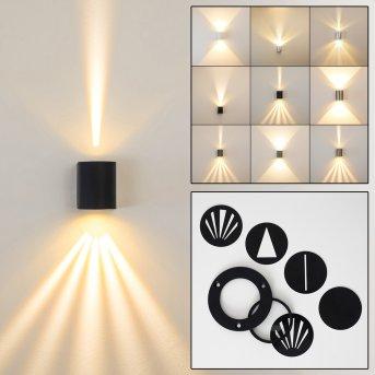 Mora Outdoor Wall Light LED black, 2-light sources