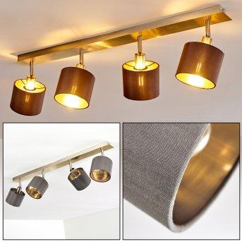 TIBRO Ceiling Light matt nickel, brass, 4-light sources