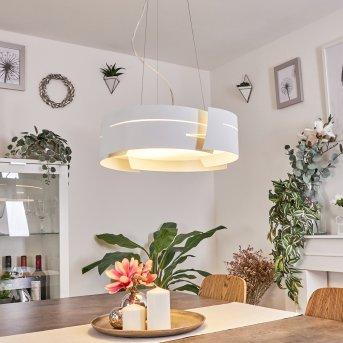 Novara hanging light white, 3-light sources
