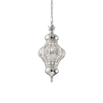 Ideal Lux NAWA Pendant Light silver, 1-light source