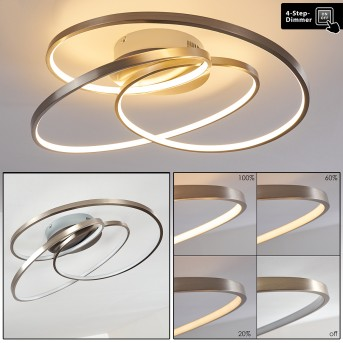 Chute Ceiling Light LED matt nickel, 1-light source