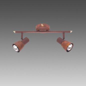 Brilliant LAVA Spotlight copper, 2-light sources