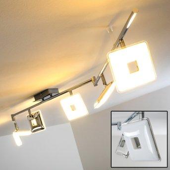 ERREZIL Ceiling SpotLight LED chrome, 6-light sources