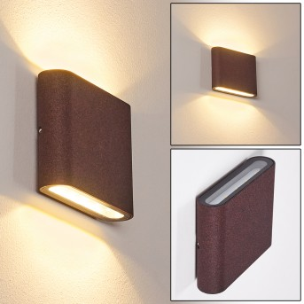 TINGLEV Outdoor Wall Light LED rust-coloured, 2-light sources