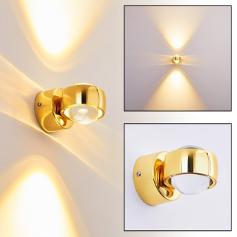 Rio wall light LED gold, 2-light sources