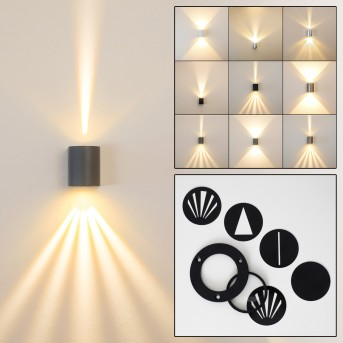 Mora Outdoor Wall Light LED grey, 2-light sources