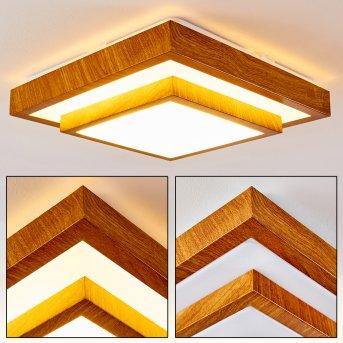 SORA WOOD Ceiling light LED white, light wood, 1-light source