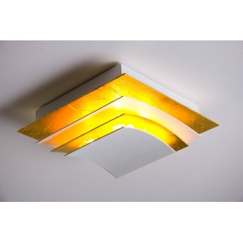 Escale PAGES ceiling light white, gold, 4-light sources