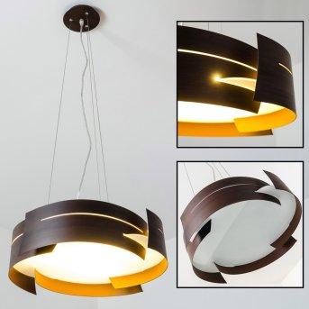 Novara hanging light brown, 3-light sources