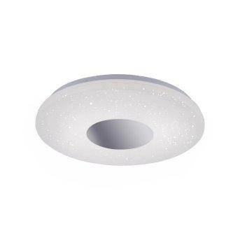 Leuchten Direkt LAVINIA Ceiling Light LED chrome, 1-light source, Motion sensor