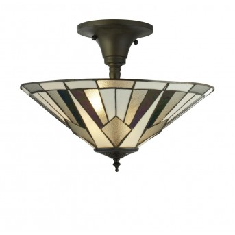 Ceiling Light Searchlight GATSBY black, white, bronze, transparent, clear, 3-light sources