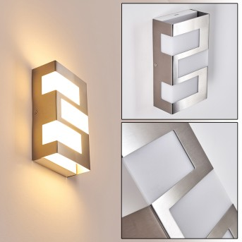 LANNION Outdoor Wall Light LED stainless steel, 3-light sources