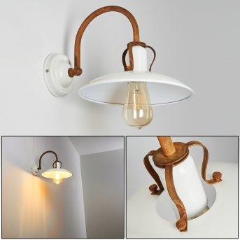 RAMVIK Wall Light rust-coloured, beige, 1-light source
