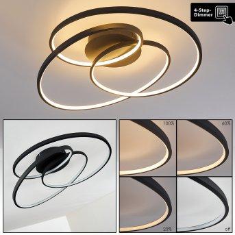 Chute Ceiling Light LED black, 1-light source