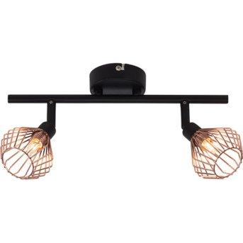 Brilliant Dalma ceiling spotlight black, 2-light sources
