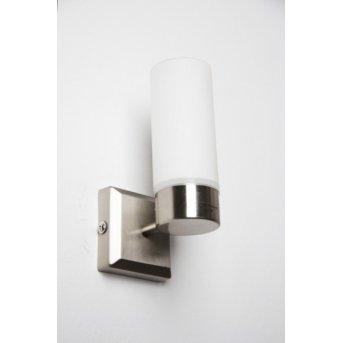 Globo SPACE wall light matt nickel, stainless steel, white, 1-light source