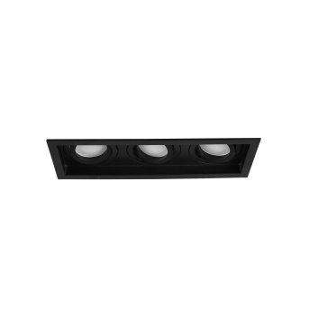 Trio KENAI recessed light LED black, 3-light sources