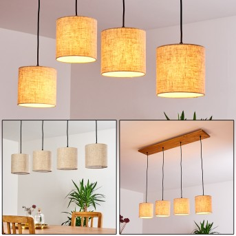SHIBURG Pendant Light light wood, 4-light sources