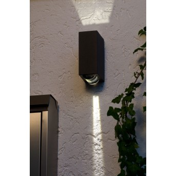 Lutec Evans outdoor wall light LED anthracite, 2-light sources