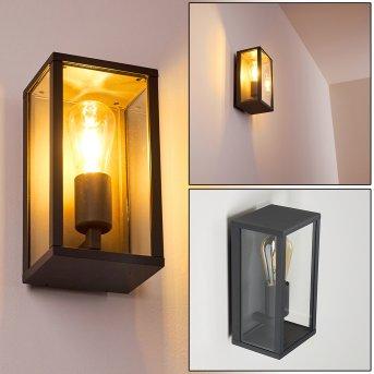 KIWALIK Outdoor Wall Light black, 1-light source