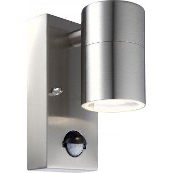 Globo outdoor wall light LED clear , 1-light source, Motion sensor